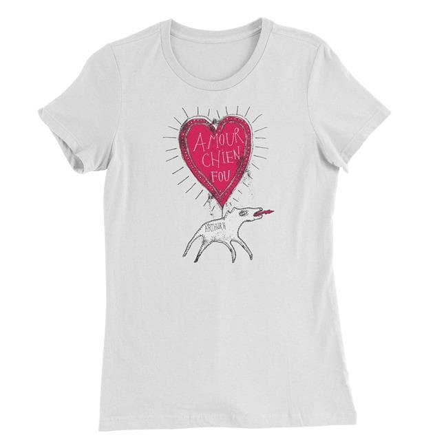 Femme - T-Shirt Chien Fou